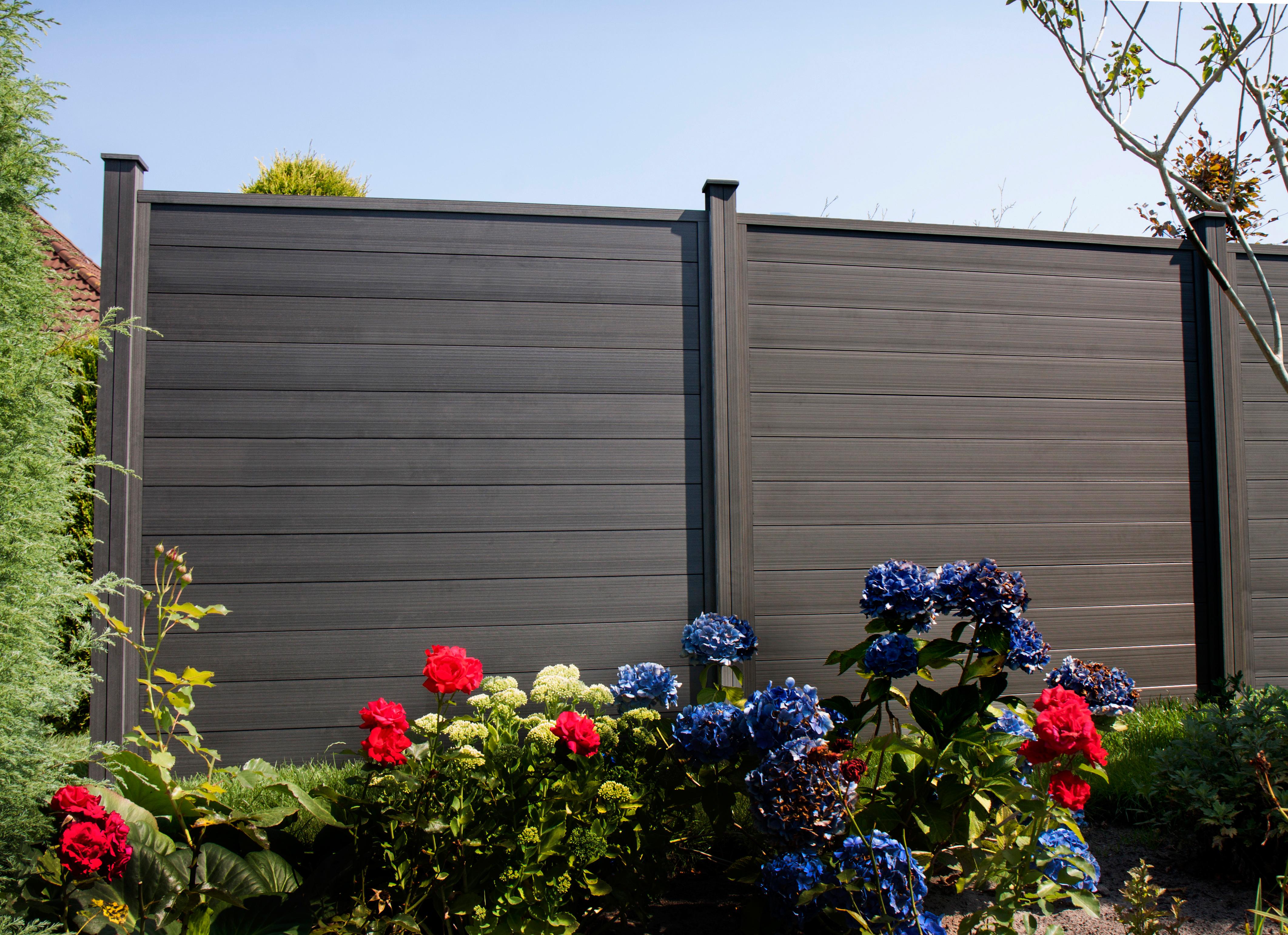 Sichtschutz Zaun grau