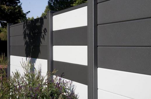 Sichtschutz Holz Stecksystem ~ Sichtschutzelement aus Aluminium mit Pulverbeschichtung Die