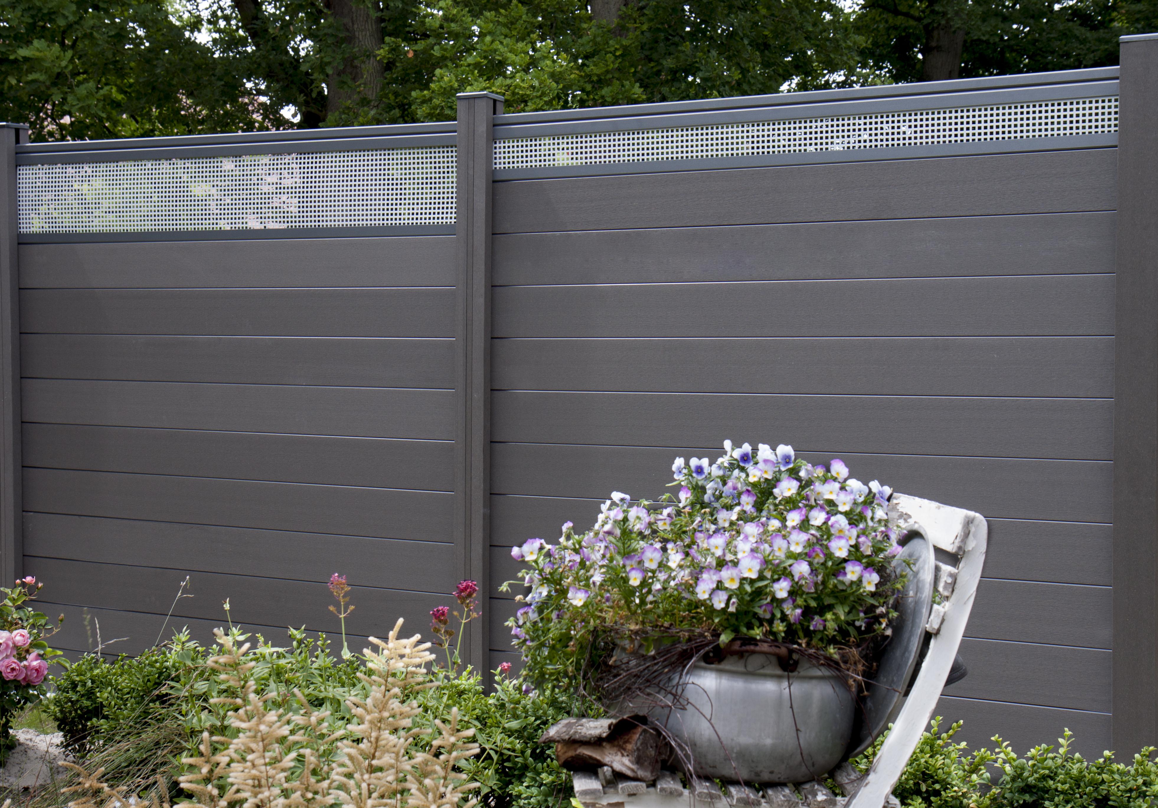 grojasolid bpc lb 30 stecksystem 180x180x1 9 cm anthrazit z une sichtschutzelemente im. Black Bedroom Furniture Sets. Home Design Ideas