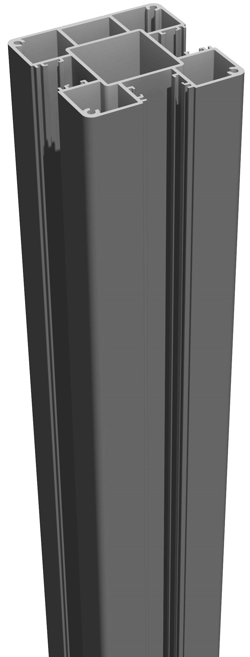 GrojaLumino Alu Stecksystem Pfosten zum Aufdübeln 100 Anthrazit