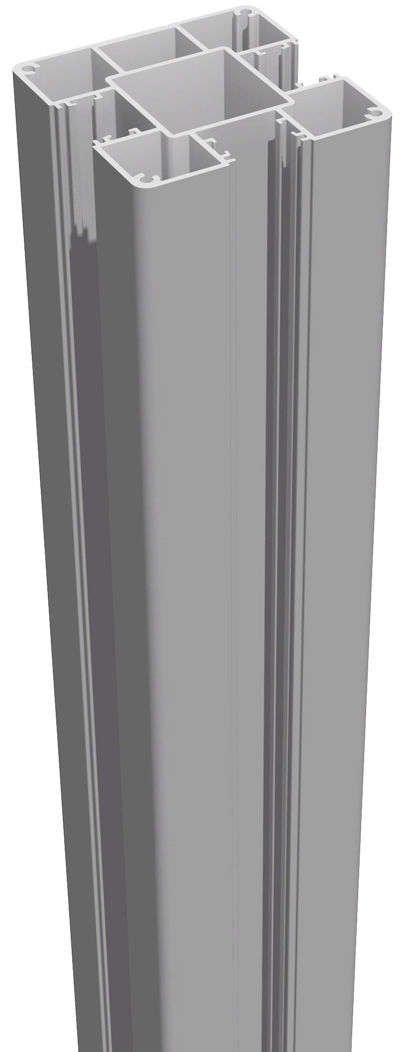 GrojaLumino Alu Stecksystem Pfosten zum Einbetonieren 240