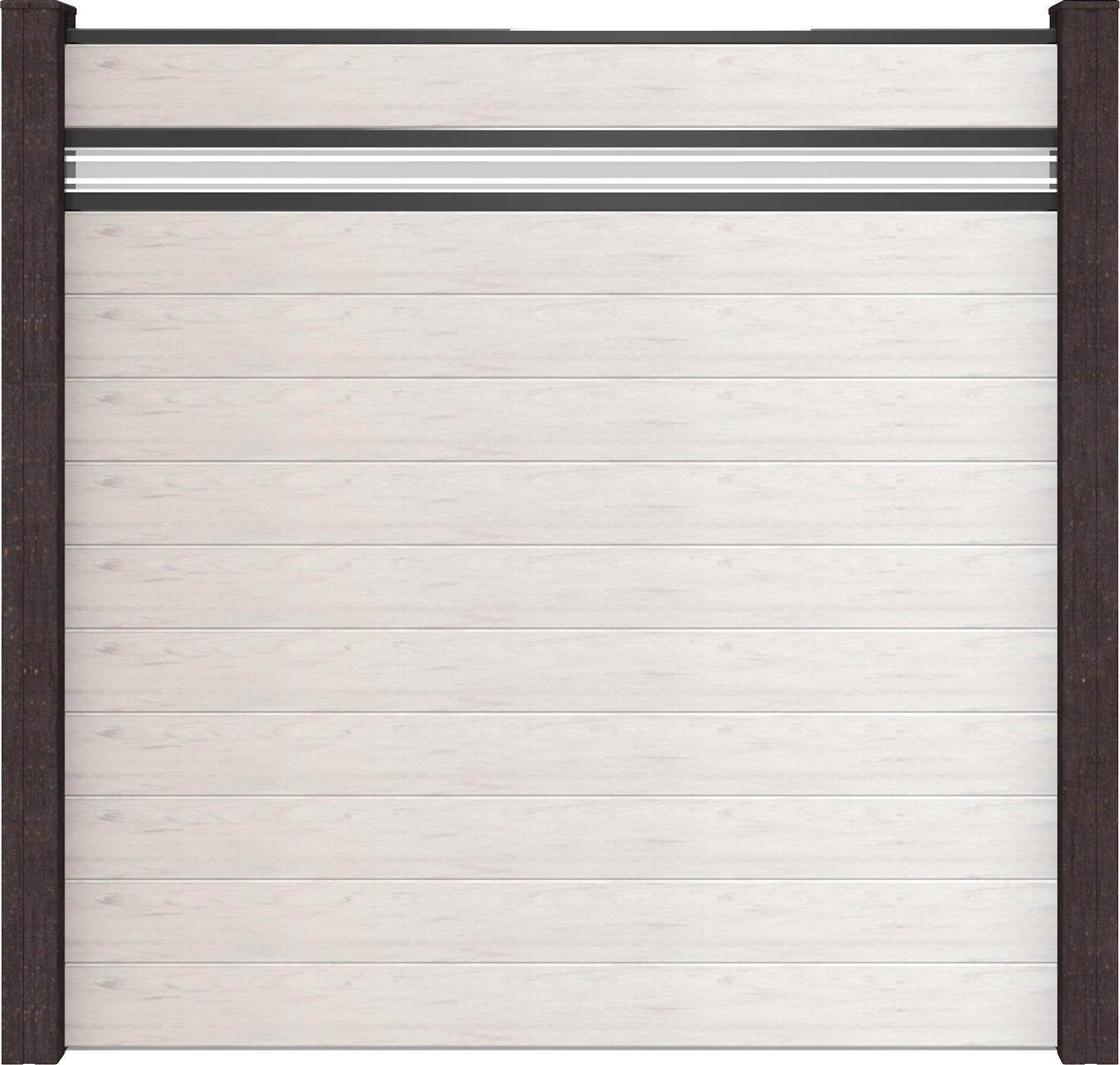 GrojaSolid BPC Glas 15 Stecksystem 180x180x1 9 cm Bi Color Weiss