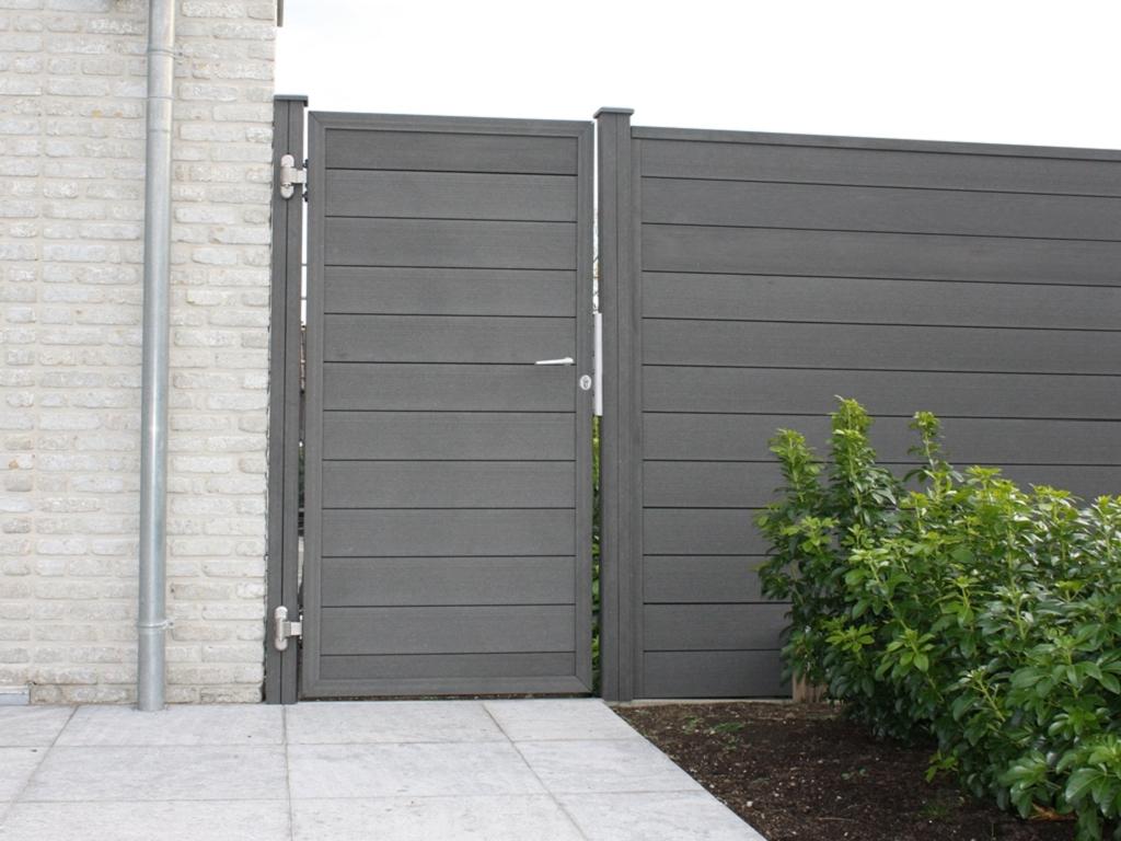 Grojasombra stecksystem tor 1 flg ohne pfosten z une for Porte exterieur de jardin