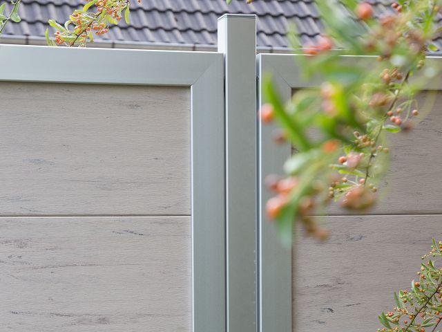 grojaviento zaunelement hochkant 90x180 cm bi color weiss z une sichtschutzelemente im. Black Bedroom Furniture Sets. Home Design Ideas