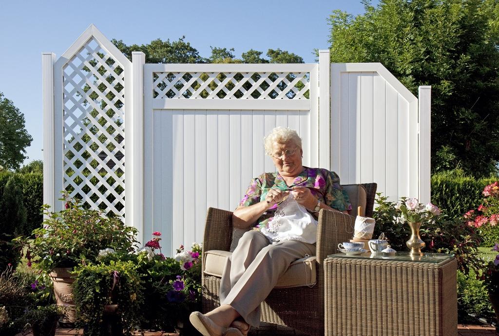 basicline sichtschutz typ c180 weiss 180x180 cm z une sichtschutzelemente im onlineshop. Black Bedroom Furniture Sets. Home Design Ideas