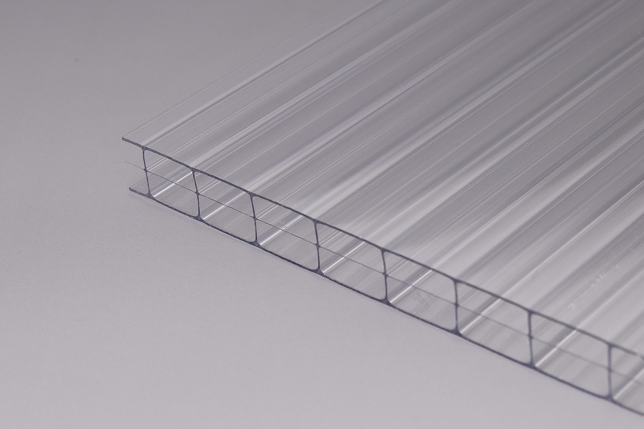 stegdreifachplatte glashell polycarbonat 16 mm marlon z une sichtschutzelemente im onlineshop. Black Bedroom Furniture Sets. Home Design Ideas