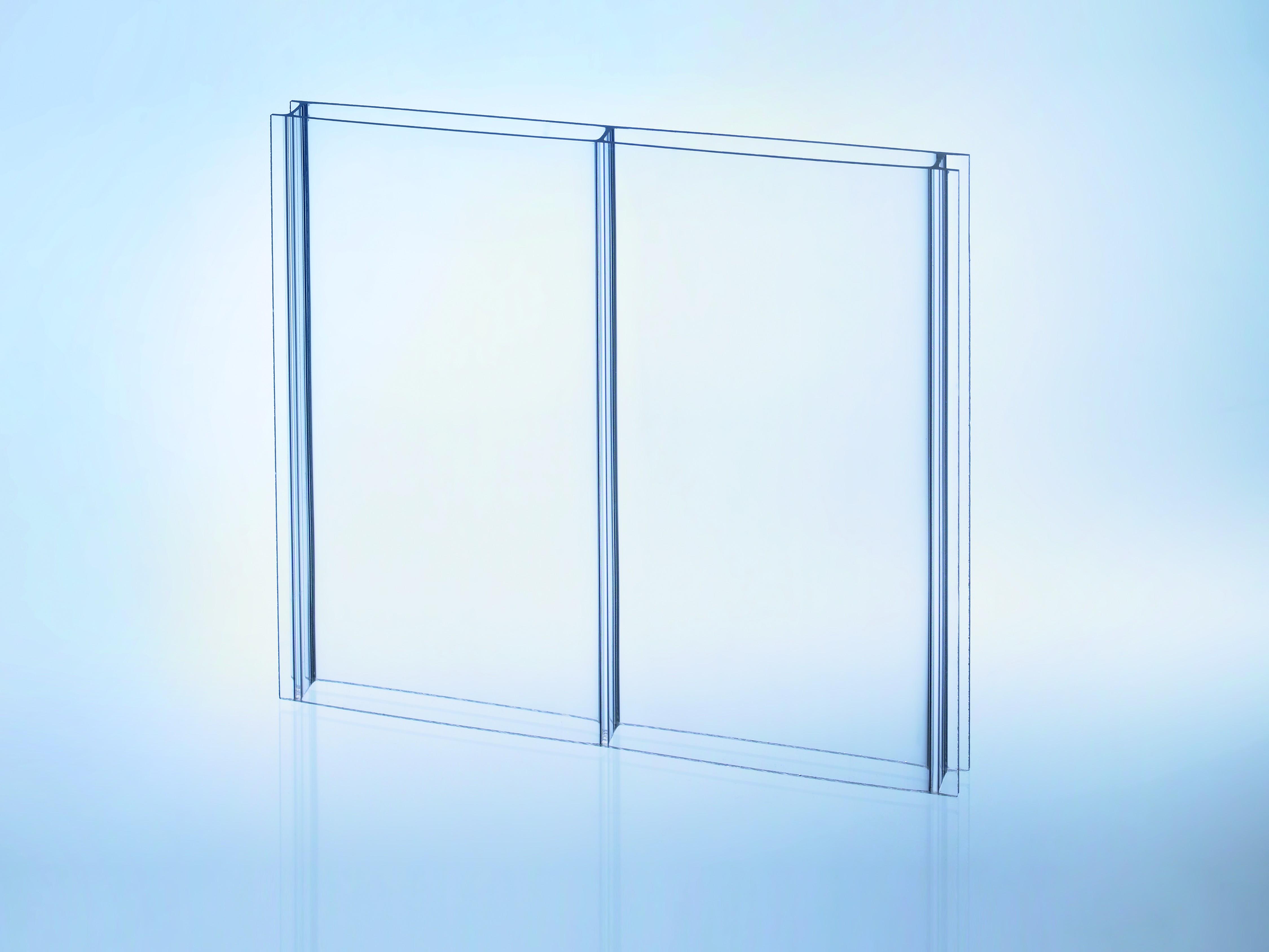 16mm doppelstegplatten acrylglas der durchblicker glasklar z une sichtschutzelemente im. Black Bedroom Furniture Sets. Home Design Ideas