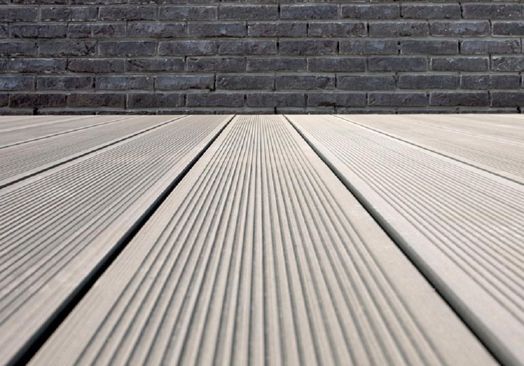 grojasombra wpc terrassendiele geriffelt 162x28 stone grey z une sichtschutzelemente im. Black Bedroom Furniture Sets. Home Design Ideas