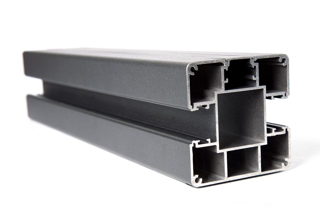grojalumino alu stecksystem pfosten zum aufd beln 190 silbergrau z une sichtschutzelemente. Black Bedroom Furniture Sets. Home Design Ideas