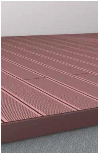 verlegung terrassendielen z une sichtschutzelemente im. Black Bedroom Furniture Sets. Home Design Ideas