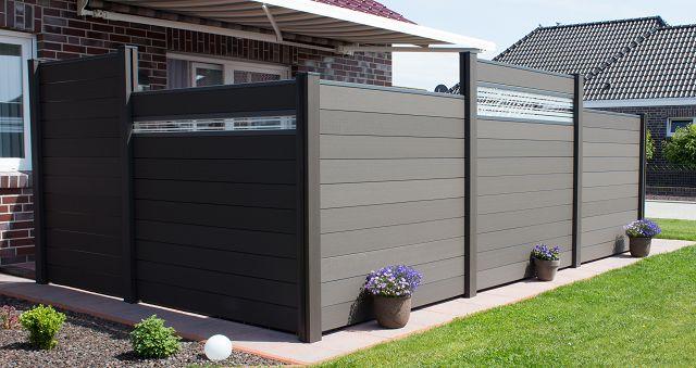 sichtschutz zaun grau anthrazit z une sichtschutzelemente im onlineshop. Black Bedroom Furniture Sets. Home Design Ideas