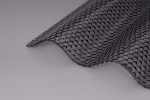 Sinusprofil Acrylglas 76/18 3,0mm graphitgrau wabe