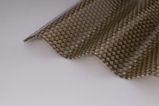 Sinusprofil Polycarbonat 76/18 Marlon CS Diamond 2,8mm bronze wabe