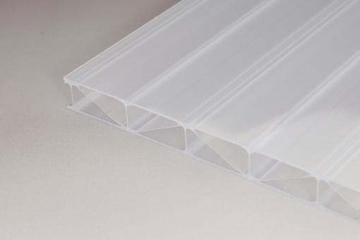Stegplatte 16 mm Polycarbonat/Premium Longlife weiss-opal - extrem Hagelsicher