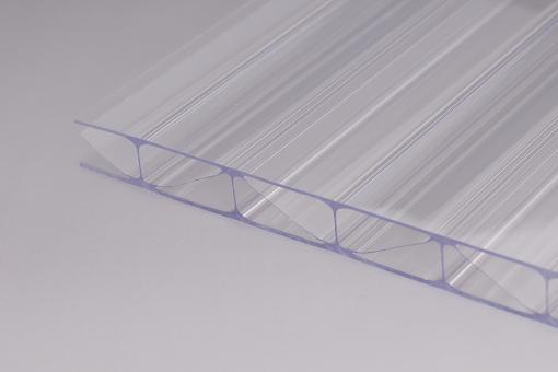 Stegplatte 16 mm Polycarbonat/Premium Longlife - extrem Hagelsicher