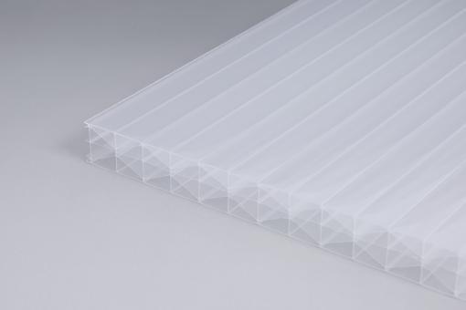 Stegplatten weiß-opal Polycarbonat  16 mm Fachwerk - X-Struktur
