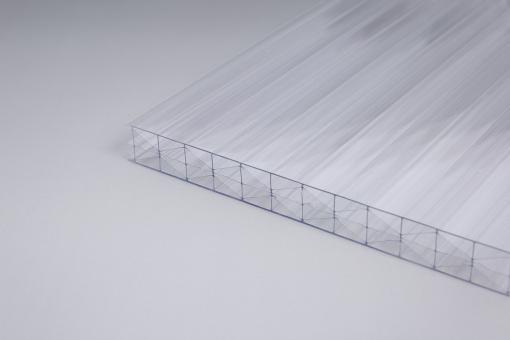 Stegplatten glashell Polycarbonat 16 mm Fachwerk X-Struktur