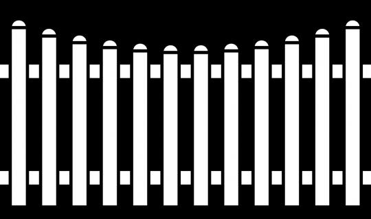 PVC Zaun Groja BasicLine Bogen unten 180x90/78 cm weiss