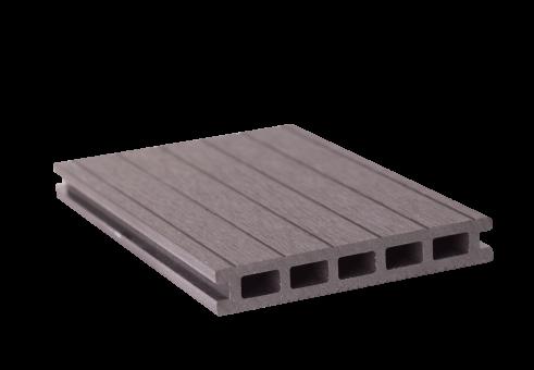 GrojaSolid Entrada BPC-Terrassendiele grau - 2 Strukturen 140x22 mm