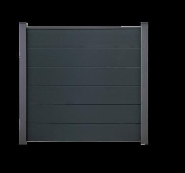 BasicLine PVC Steckzaun 180x180 cm Anthrazit