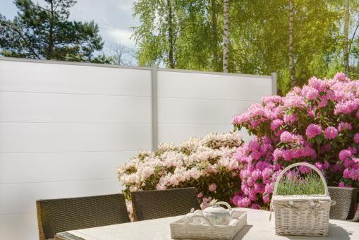 BasicLine PVC Steckzaun 180x180 cm weiss