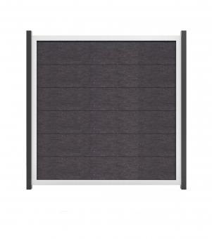 GrojaViento Zaunelement Quadratisch 180x180 cm Anthrazit Grau mit Rahmen EV1