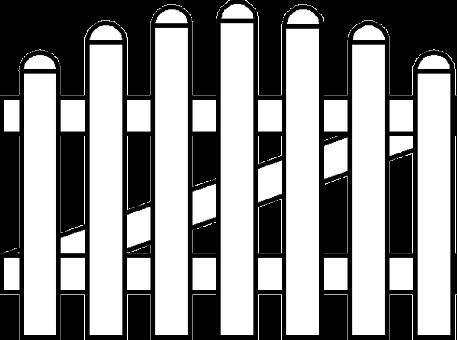 PVC Zaun Groja BasicLine Gartentor 1-flg. Bogen oben 100x63/74 cm weiss