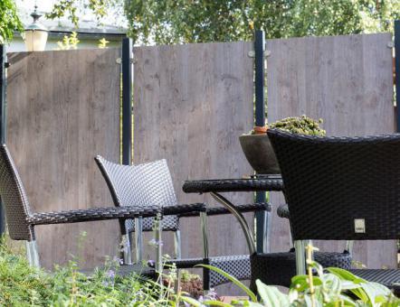 GrojaPremo HPL-Sichtschutzelement Senkrecht 90x180/Holzoptik