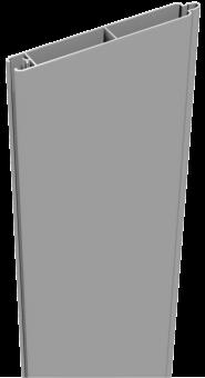 GrojaLumino Alu-Stecksystem Füllung 180 Silbergau