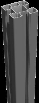 GrojaLumino Alu-Stecksystem Pfosten zum Aufdübeln 190 Anthrazit 7x7 cm