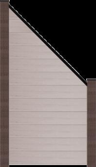 GroJaSolid Stecksystem 90x180/90x1,9 cm schräg Bi-Color weiss