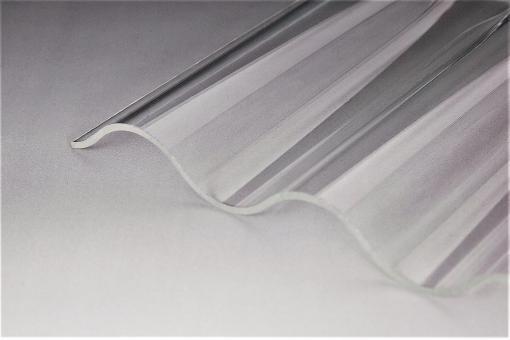 Sinusprofil Acrylglas 76/18 3,0mm glashell glatt