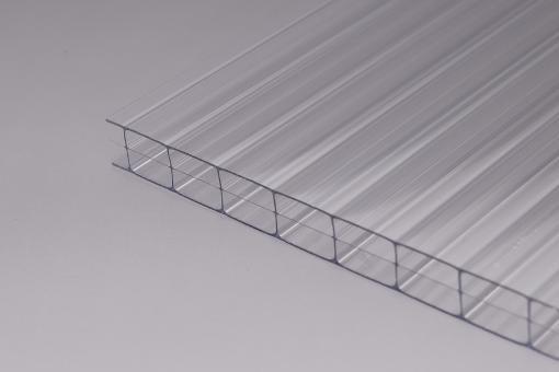 Stegdreifachplatte glashell Polycarbonat 16 mm Marlon