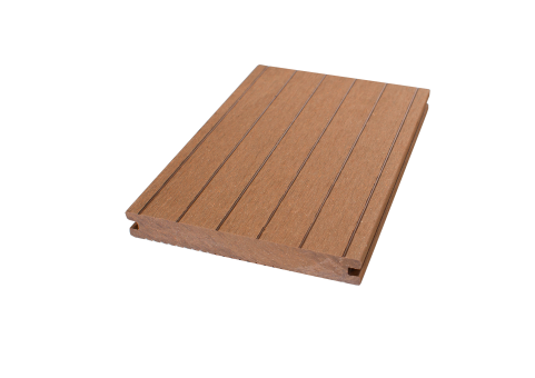 GrojaSolid Novel BPC-Terrassendiele braun - 2 Strukturen 140x20 mm
