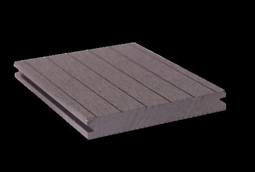 GrojaSolid Novel BPC-Terrassendiele grau - 2 Strukturen 140x20 mm