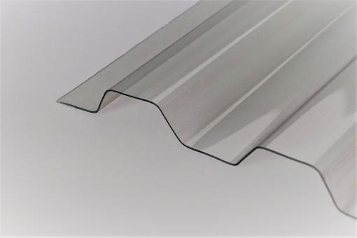 """Sollux Renolit Lichtplatten 70/18 Trapez - Glasklar """"Hagelsicher"""""""