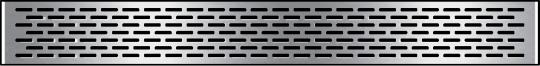 HPL Kassette 216 Dekor Edelstahl 90 x 21,6 cm