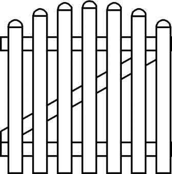 PVC Zaun Groja BasicLine Gartentor 1-flg. Bogen oben 100x90/101 cm weiss