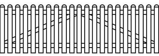 PVC Zaun Groja BasicLine Gartentor 2-flg. gerade 300x90 cm weiss