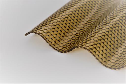 Sinusprofil Acrylglas 76/18 3,0mm bronze wabe
