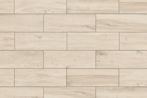 Terrassenplatten Feinsteinzeug Holzoptik Woodtalk eiche weiss 395 x 1195 mm