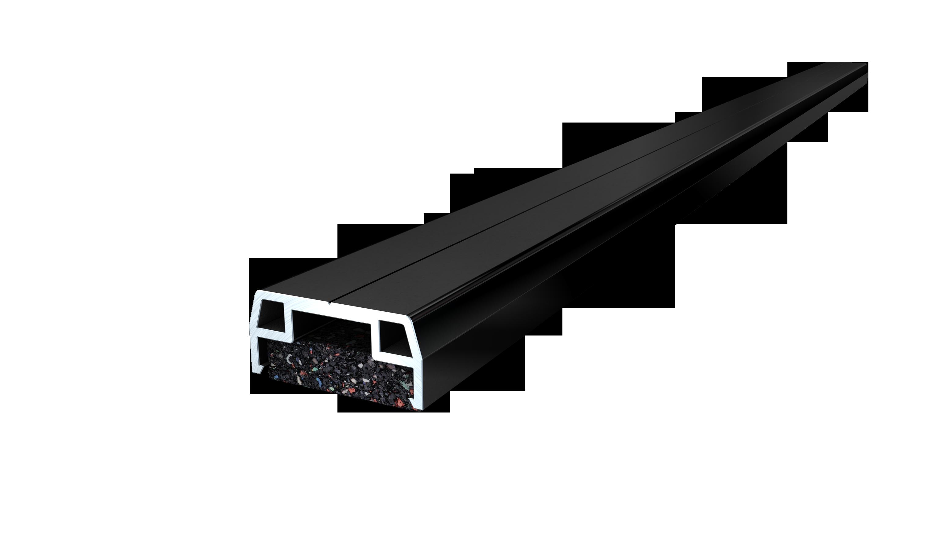isostep alu unterkonstruktion 40x23x3600 mm z une sichtschutzelemente im onlineshop. Black Bedroom Furniture Sets. Home Design Ideas
