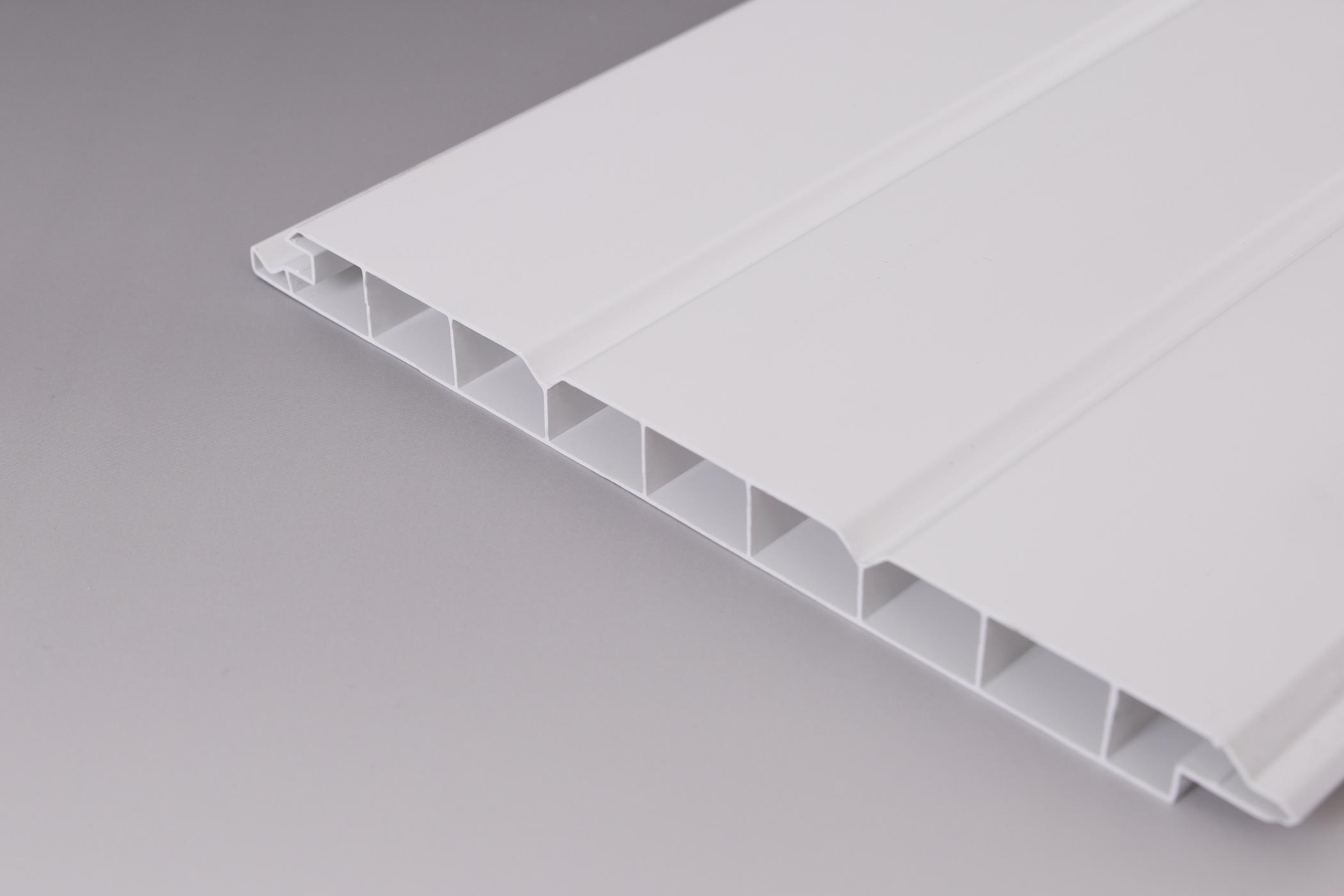 pvc wand und deckenpaneele wei 200 mm z une sichtschutzelemente im onlineshop. Black Bedroom Furniture Sets. Home Design Ideas