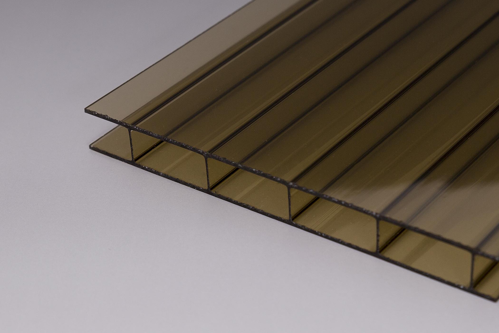 16mm doppelstegplatten acrylglas 16 32 bronze z une sichtschutzelemente im onlineshop. Black Bedroom Furniture Sets. Home Design Ideas