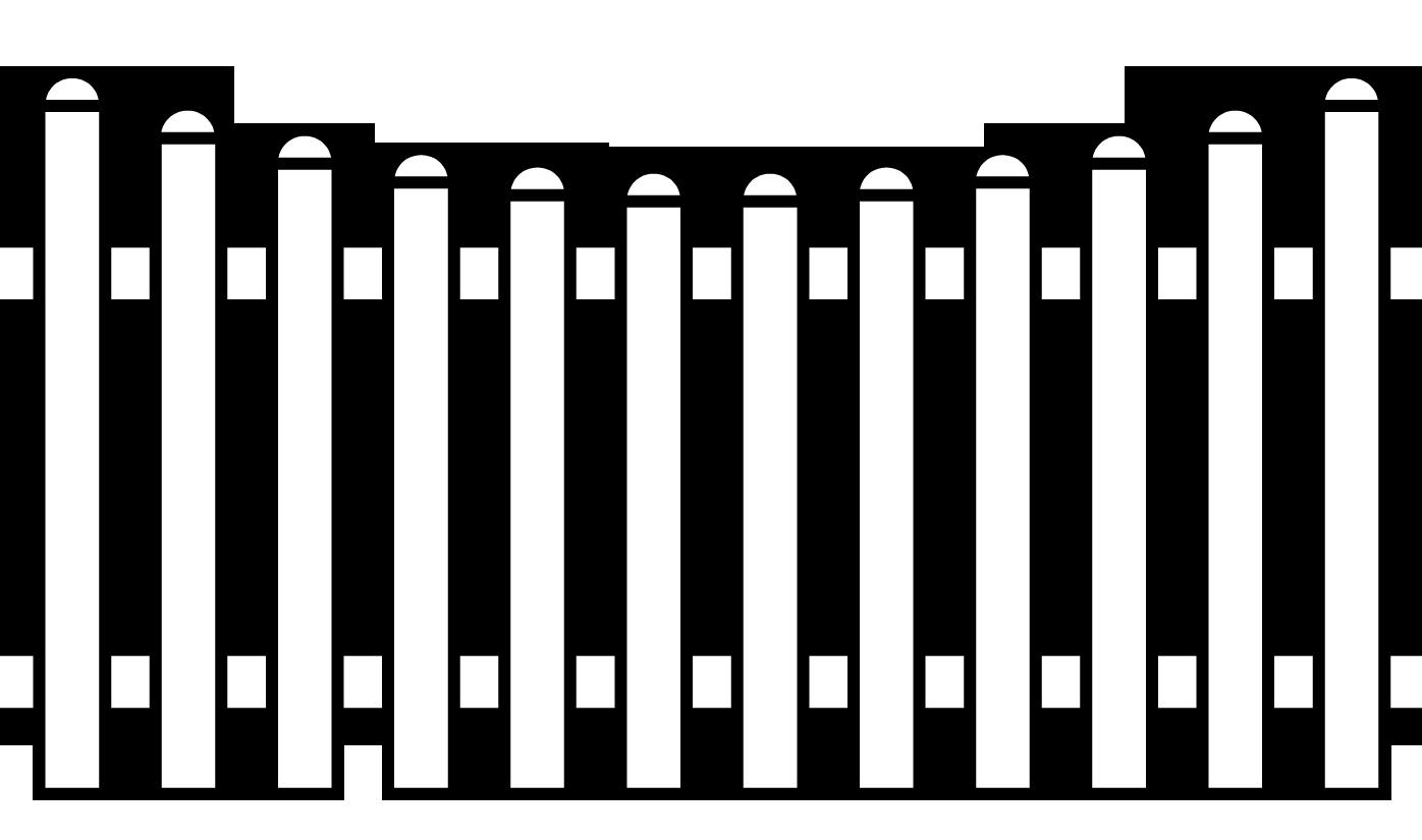 Pvc Zaun Groja Basicline Bogen Unten 180x90 78 Cm Weiss Zaune