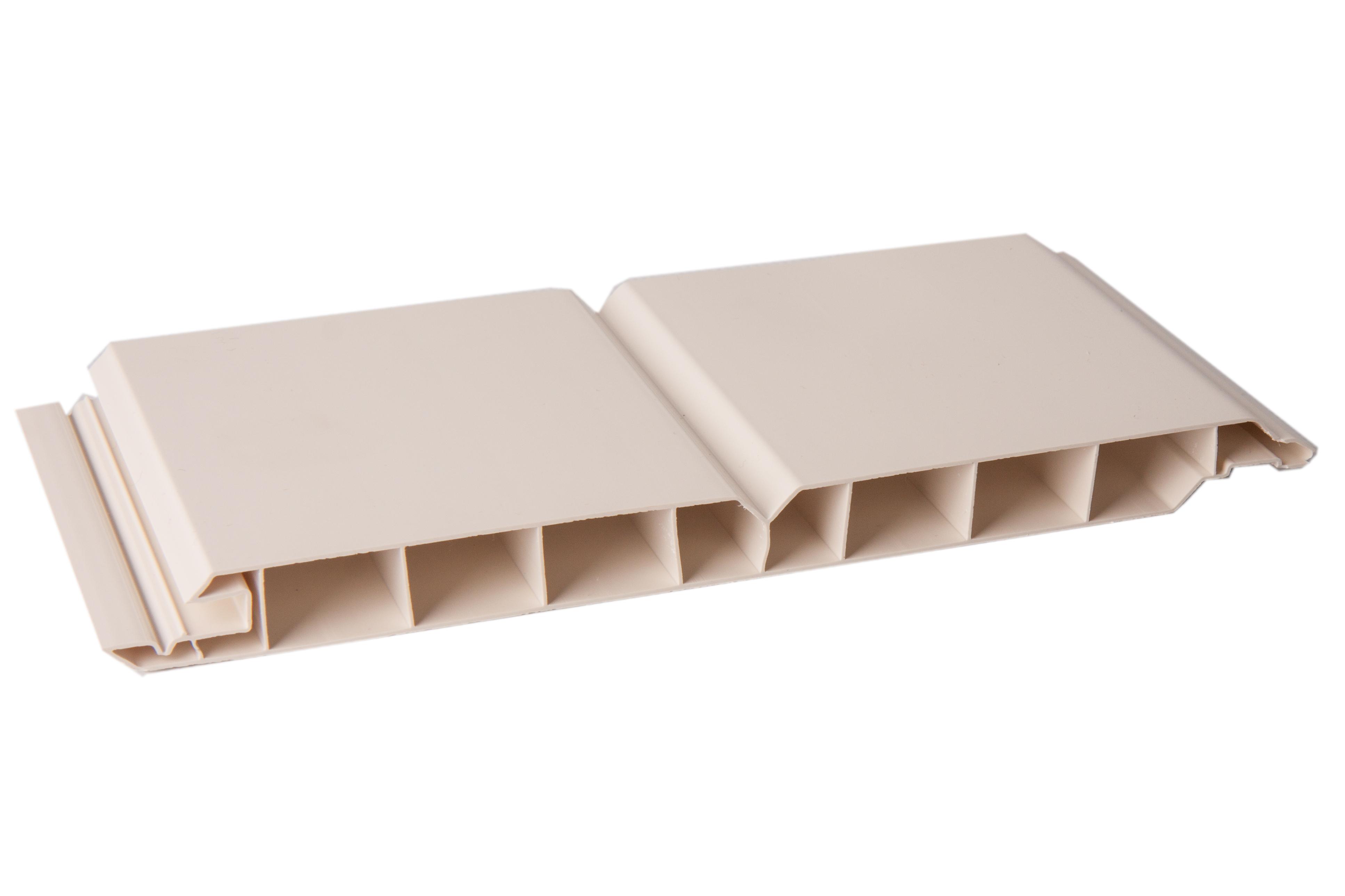 kunststoff paneele gj 17 200 mm n f cremewei durchgef rbt z une sichtschutzelemente im. Black Bedroom Furniture Sets. Home Design Ideas