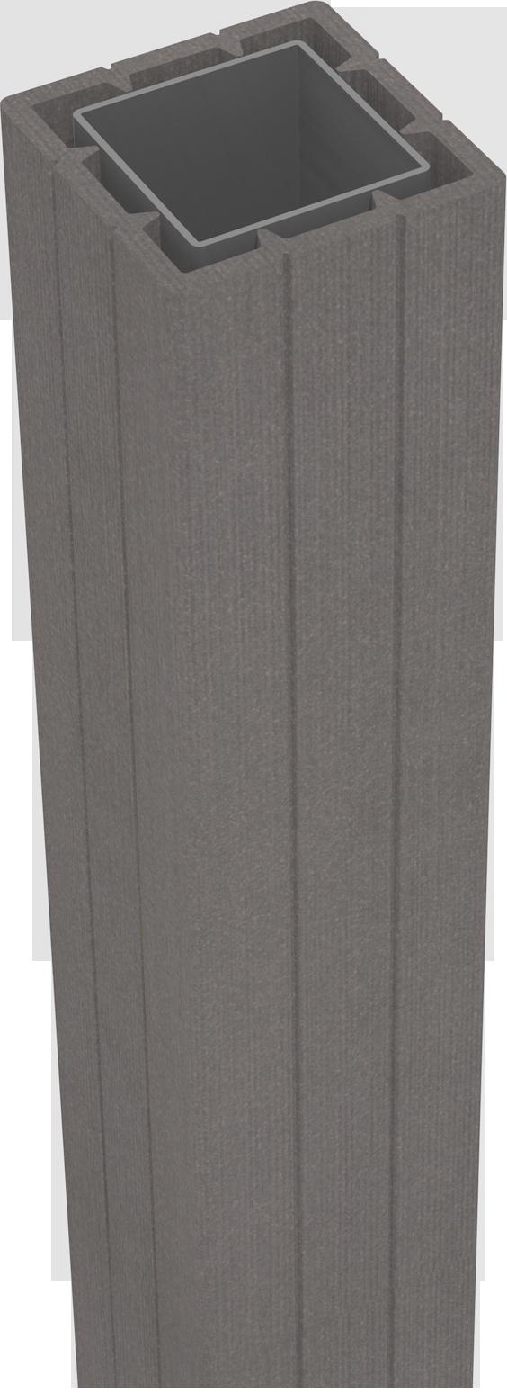 grojasolid zub zaunelement pfosten 100 zum aufd beln anthrazit z une sichtschutzelemente im. Black Bedroom Furniture Sets. Home Design Ideas