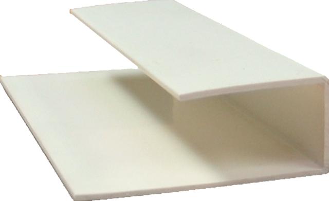 zusatzprofil f r gj200 u profil cremeweiss z une sichtschutzelemente im onlineshop. Black Bedroom Furniture Sets. Home Design Ideas