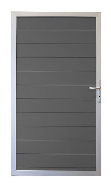 grojalumino alu stecksystem tor 1 fl gelig 100 x 180 cm z une sichtschutzelemente im onlineshop. Black Bedroom Furniture Sets. Home Design Ideas