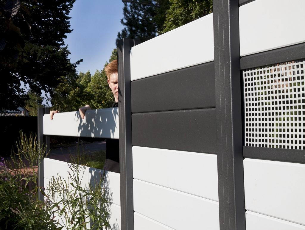 grojalumino alu stecksystem 180x180 bausatz silbergrau. Black Bedroom Furniture Sets. Home Design Ideas